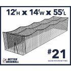 21 Gauge Nylon 12x14x55 Batting Cage