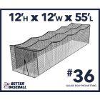 36 Gauge Poly 12x12x55 Batting Cage