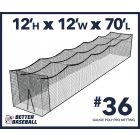 36 Gauge Poly 12x12x70 Batting Cage