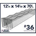 36 Gauge Poly 12x14x70 Batting Cage