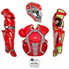 All-Star System7 Axis Pro Catcher's Set NOCSAE, Scarlet