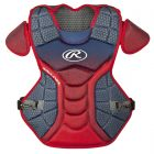 Rawlings Velo Adult 17in Chest Protector, Nvy/Scarlet