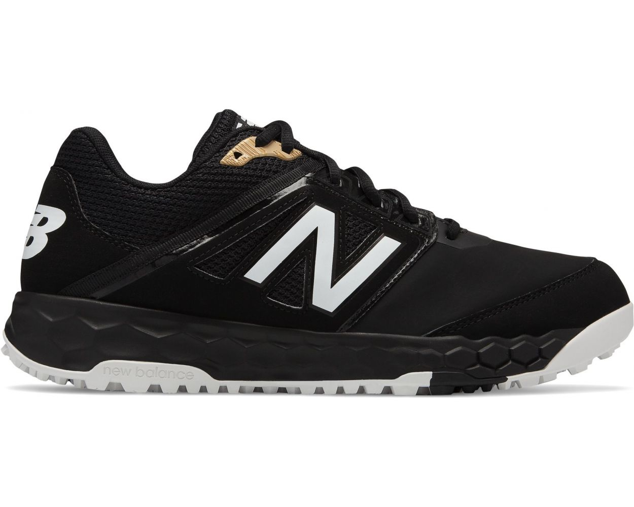 T3000V4 Synthetic Black Turf Shoes
