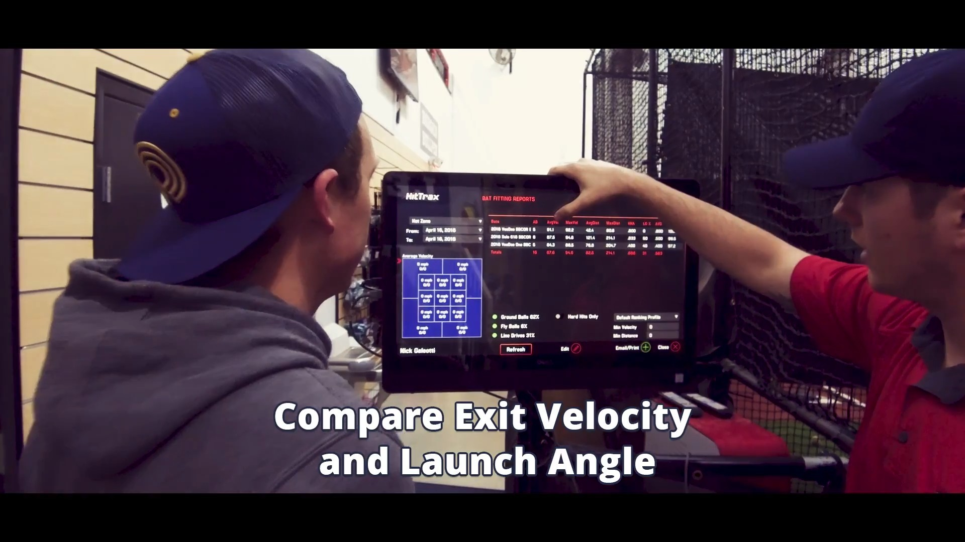 Compare Exit Velocity and Launch Angle